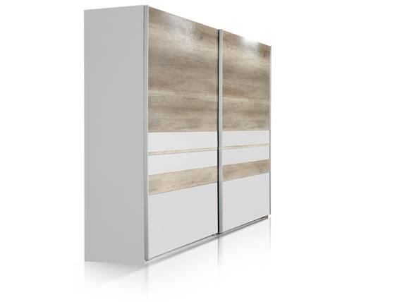 munich schwebet renschrank 225 cm weiss wildeiche. Black Bedroom Furniture Sets. Home Design Ideas