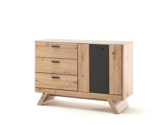CALISTRO Sideboard, 3 Schubkästen+1 Tür, Material MDF, balkeneichefarbig/anthrazit 119 cm DETAIL_IMAGE