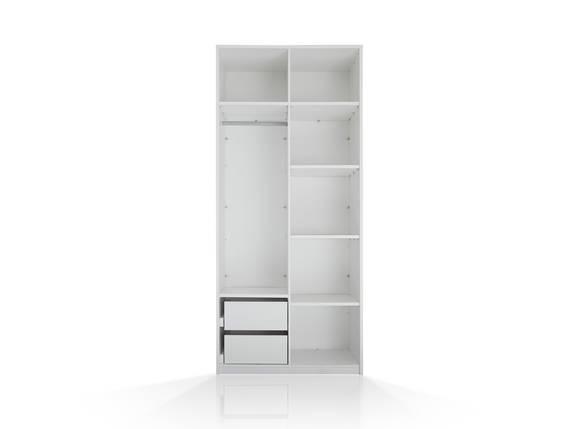 MELBOURNE Schranksystem 2trg, Material Dekorspanplatte, weiss ohne Türen DETAIL_IMAGE