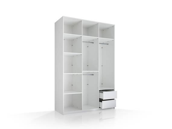 MELBOURNE Schranksystem 3trg, Material Dekorspanplatte, weiss ohne Türen DETAIL_IMAGE