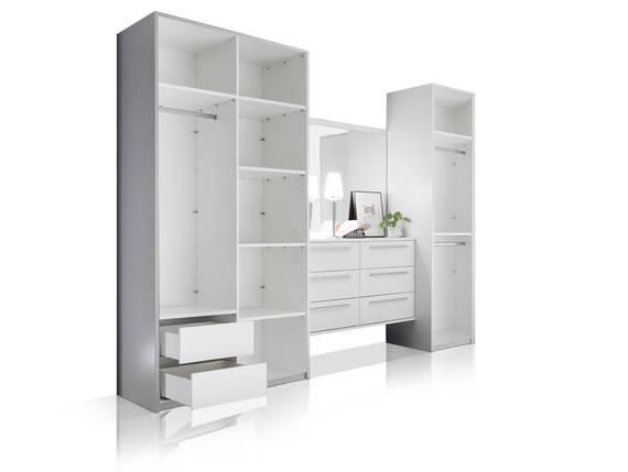 MELBOURNE Kleiderschrankkonzept II ohne Türen, Material Dekorspanplatte, weiss  DETAIL_IMAGE