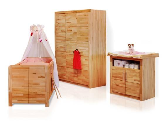 SIMEA Babyzimmer 3tlg, Material Teilmassiv, Kernbuche  DETAIL_IMAGE