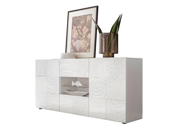MATILDE Sideboard 2 Türen und 2 Schubkästen, Material Dekorspanplatte weiss DETAIL_IMAGE