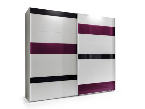 milan schwebet renschrank 180 cm weiss glas grau brombeer. Black Bedroom Furniture Sets. Home Design Ideas