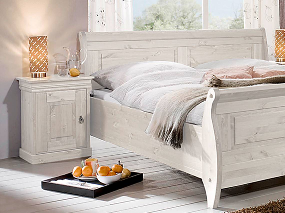 richard ii nachtkommode kiefer massiv kiefer weiss. Black Bedroom Furniture Sets. Home Design Ideas