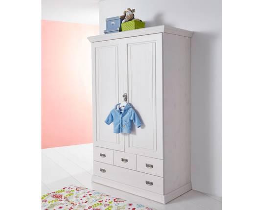 ODETTE Wäscheschrank 2trg, Material Massivholz,  Kiefer weiss gewachst  DETAIL_IMAGE