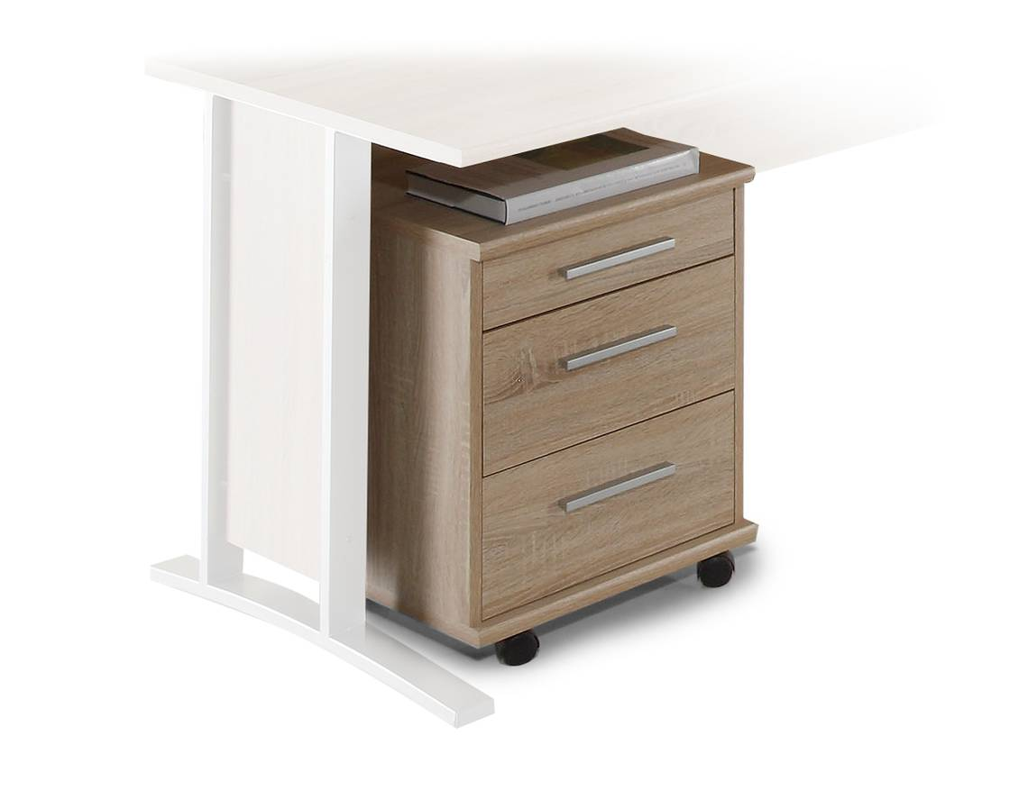 rollcontainer office line eiche sonoma. Black Bedroom Furniture Sets. Home Design Ideas