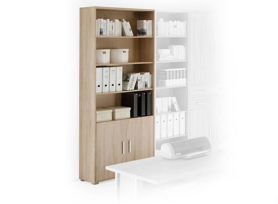 OFFICE LINE Schrank 2 Türen, Material Dekorspanplatte, Eiche sonomafarbig  DETAIL_IMAGE