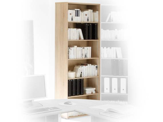 OFFICE LINE Schrank offen breit, Material Dekorspanplatte, Eiche sonomafarbig  DETAIL_IMAGE