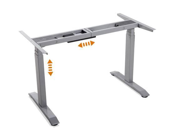 OFFICE ONE elektrisch höhenverstellbares Tischgestell TÜV geprüft mit Memory-Funktion grau DETAIL_IMAGE