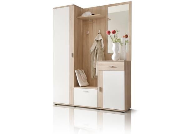 PAINT Garderobe 3tlg, Material Dekorspanplatte, Eiche sonomafarbig / weiss  DETAIL_IMAGE