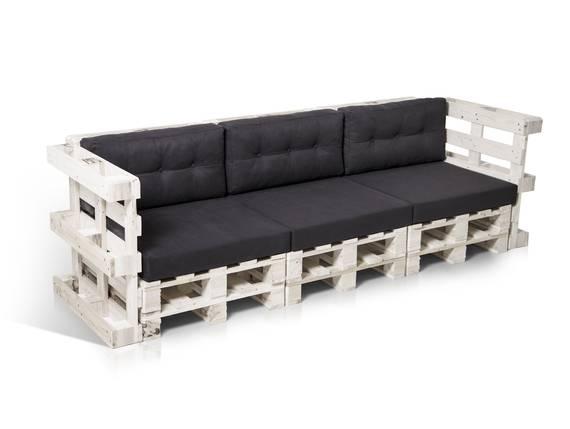 PALETTI 3-Sitzer Sofa aus Paletten weiss lackiert  DETAIL_IMAGE