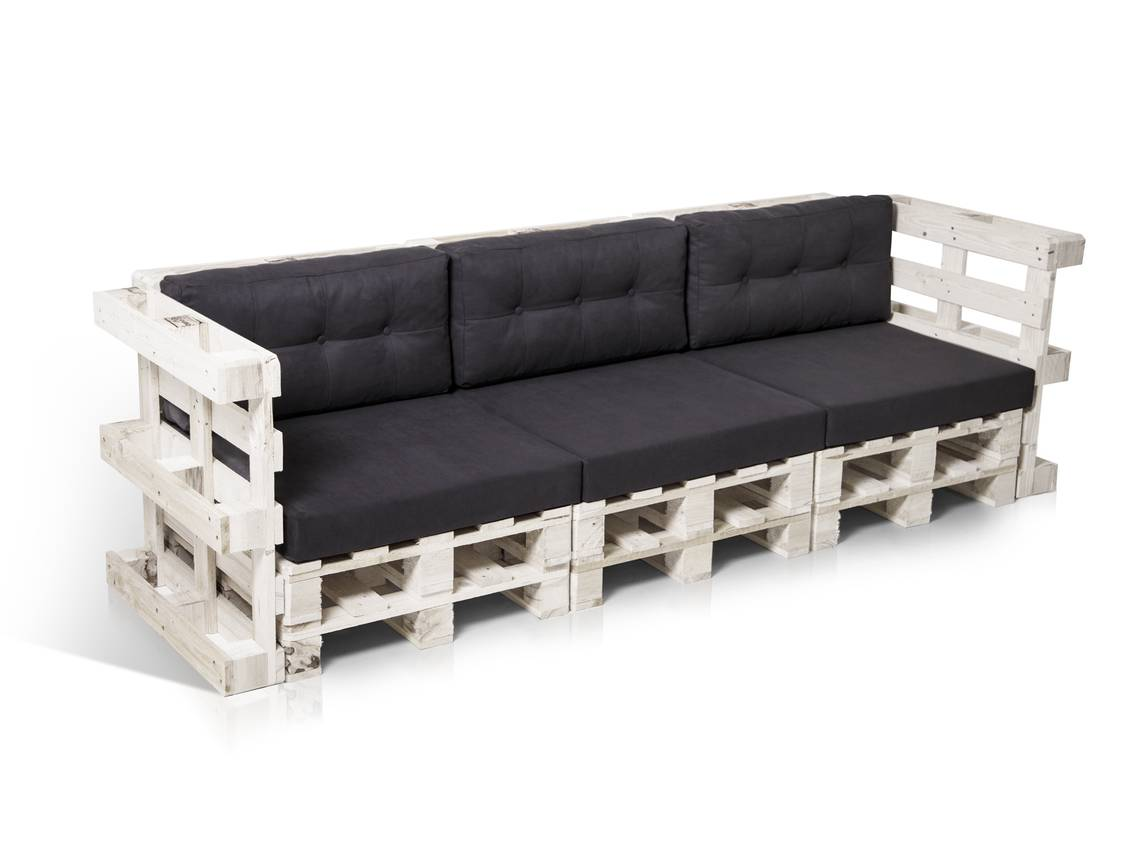 paletti 3 sitzer sofa aus paletten wei lackiert. Black Bedroom Furniture Sets. Home Design Ideas