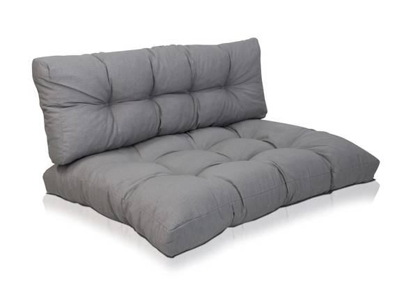 Set aus Palettenkissen, mit Rückenkissen gross grau  DETAIL_IMAGE
