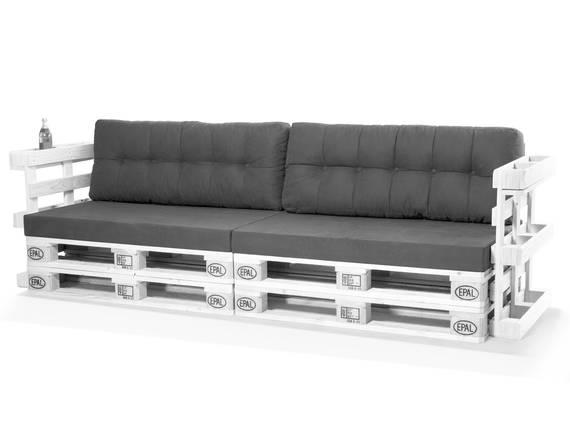 PALETTI Europaletten-Sofa, 3-Sitzer, mit Armlehnen, Fichte massiv weiss DETAIL_IMAGE