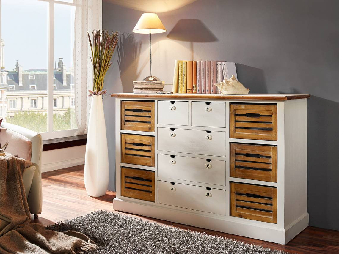 palina sideboard vi wei lackiert. Black Bedroom Furniture Sets. Home Design Ideas