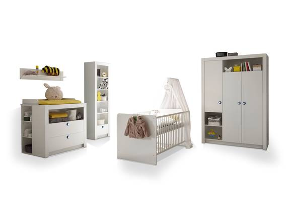 PAOLO Komplett-Babyzimmer, Material Dekorspanplatte, weiss  DETAIL_IMAGE