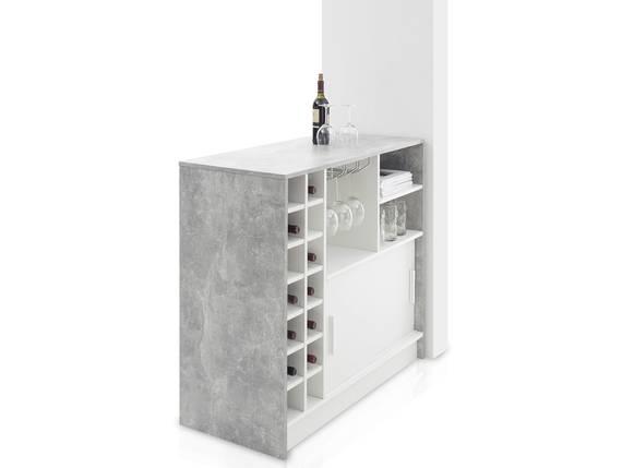PALINO Bartisch, Material Dekorspanplatte, weiss/betonfarbig  DETAIL_IMAGE