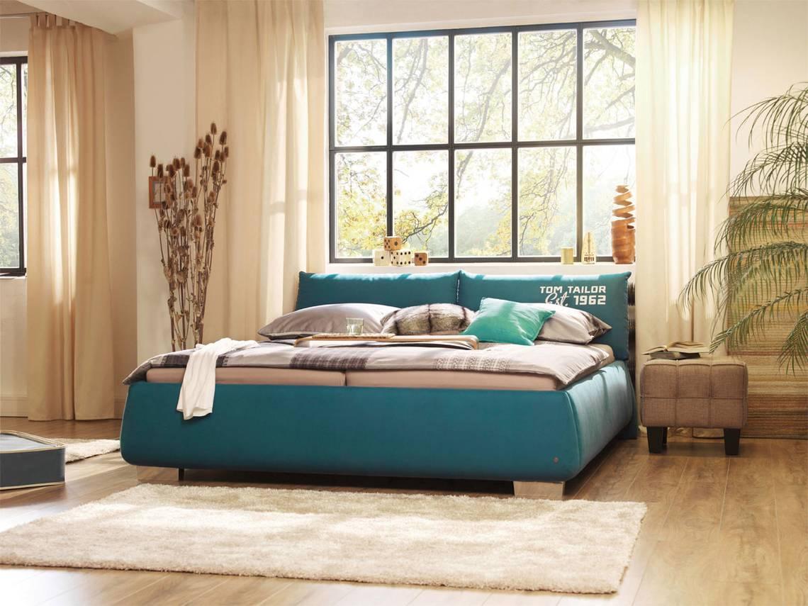 tom tailor polsterbett softpillow petrol 90 x 200 cm. Black Bedroom Furniture Sets. Home Design Ideas