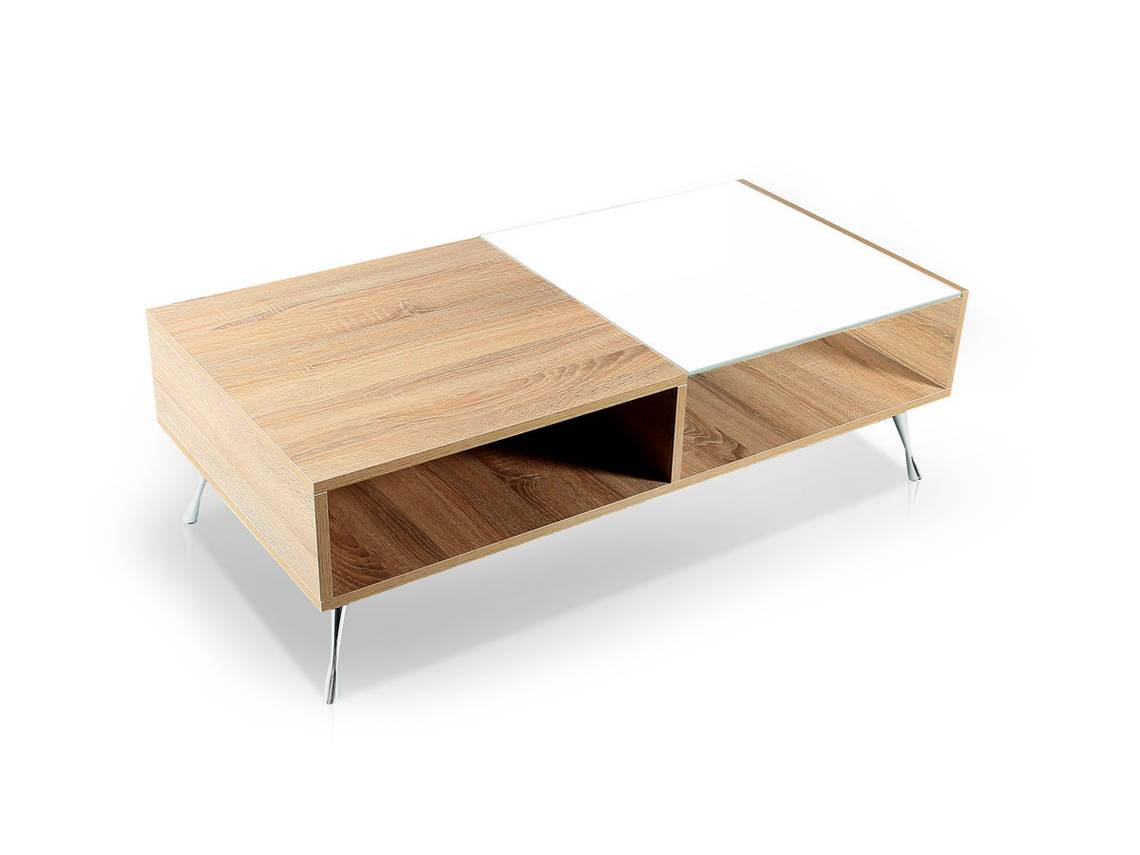 porto couchtisch eiche sonome weiss. Black Bedroom Furniture Sets. Home Design Ideas