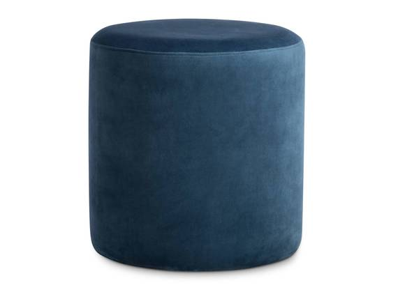 POUFI Hocker rund, Material Stoff, Bezug Samt blau DETAIL_IMAGE
