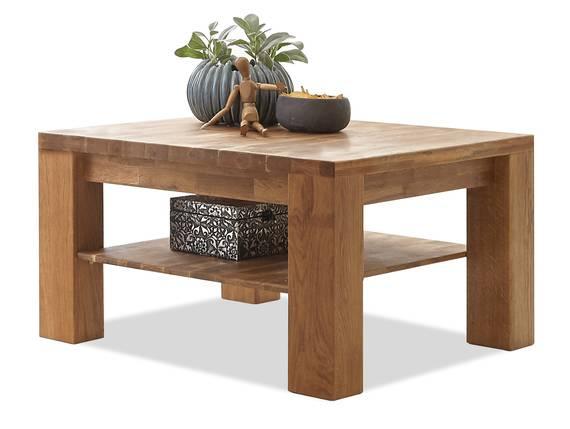 ALANDO Couchtisch, Material Massivholz, Wildeiche geölt 80 x 80 cm DETAIL_IMAGE