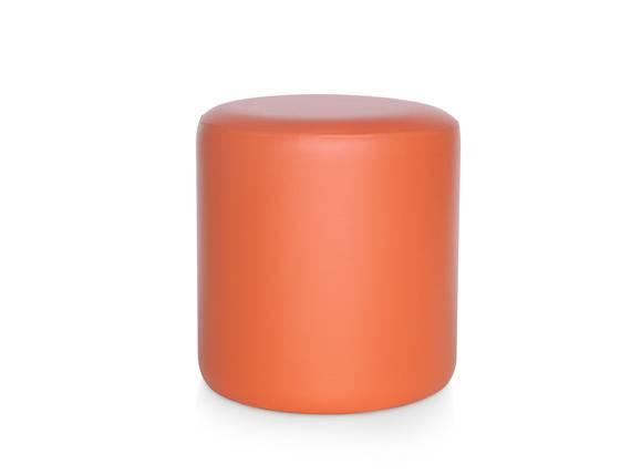 POUFI Hocker rund, Material Kunstleder orange DETAIL_IMAGE