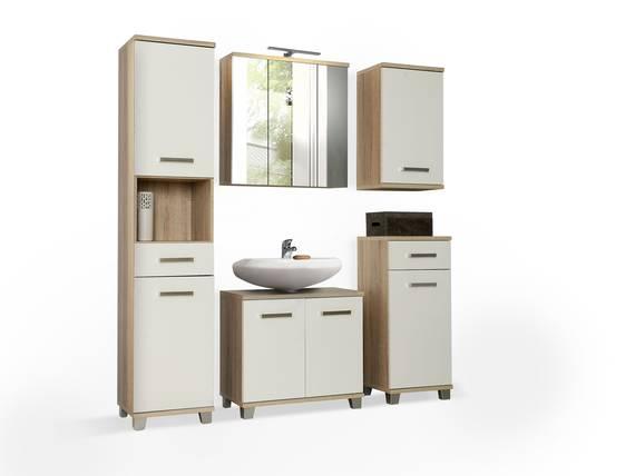 VENETA Badezimmer, Material Dekorspanplatte, eichefarbig/weiss Hochglanz  DETAIL_IMAGE