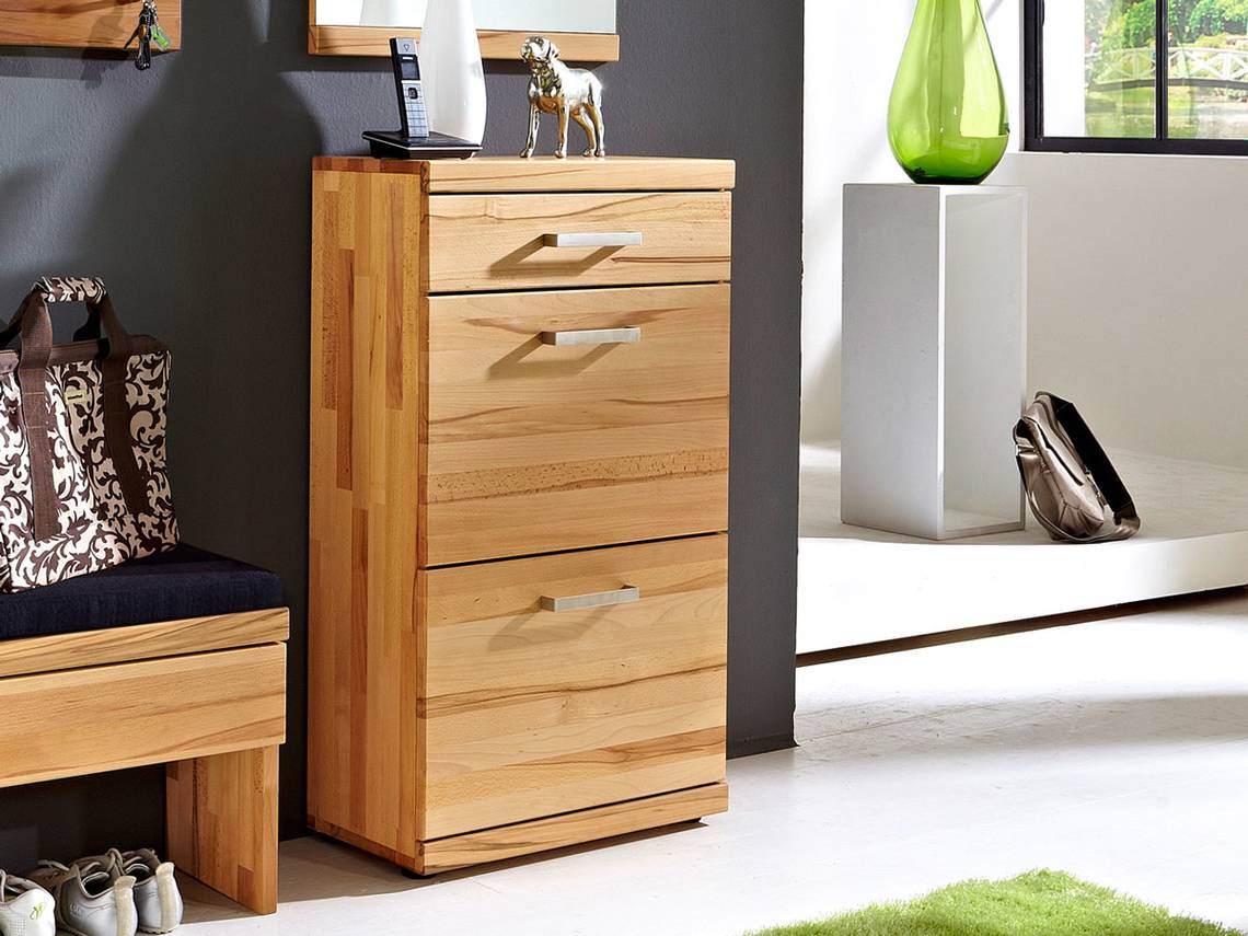 quick step schuhschrank 1 schub 2 klappen. Black Bedroom Furniture Sets. Home Design Ideas