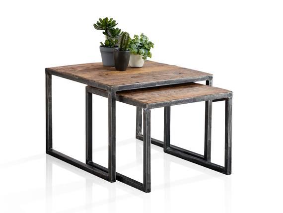 QUINCE Zweisatztisch / Couchtische, Material Massivholz  DETAIL_IMAGE