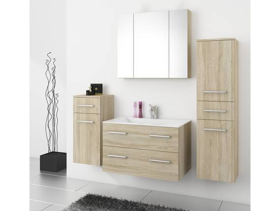 RAFFAELA Badezimmerset, Material Dekorspanplatte, Eiche sägeraufarbig  DETAIL_IMAGE