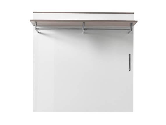 RENE Garderobenpaneel, Material Dekorspanplatte, weiss Hochglanz weiss HG / grau DETAIL_IMAGE