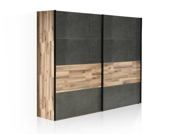 RICCANO Schiebetürenschrank, Material Dekorspanplatte, stabeichefarbig/grau 270 cm DETAIL_IMAGE