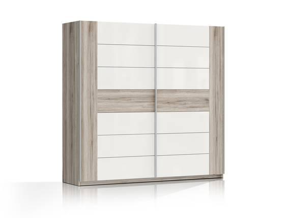 ROMANA Schwebetürenschrank, Material Dekorspanplatte, sandeichefarbig/weiss 220 cm DETAIL_IMAGE