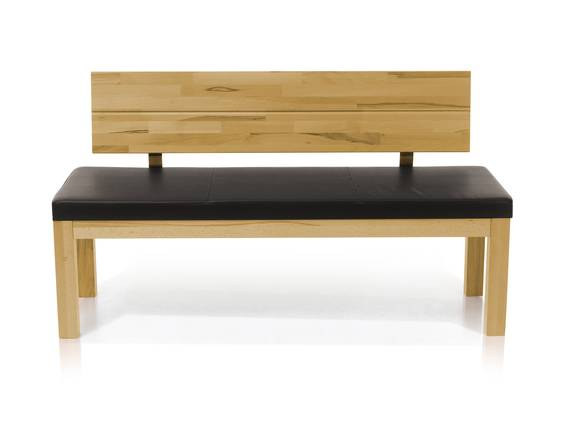SALIMA Sitzbank mit Rücken Massivholz 130 cm | Eiche geölt | dunkelbraun DETAIL_IMAGE