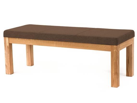 SALIMA II Sitzbank, Material Massivholz/Stoffbezug Eiche | 130 cm | ohne Rückenlehne | walnut DETAIL_IMAGE