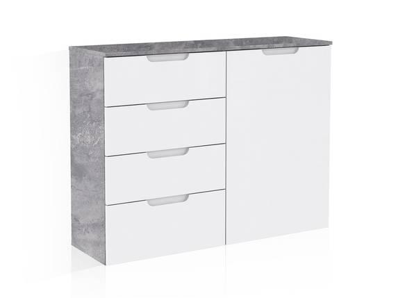 SALITA Kommode 1, Material MDF, betonfarbig/weiss  DETAIL_IMAGE