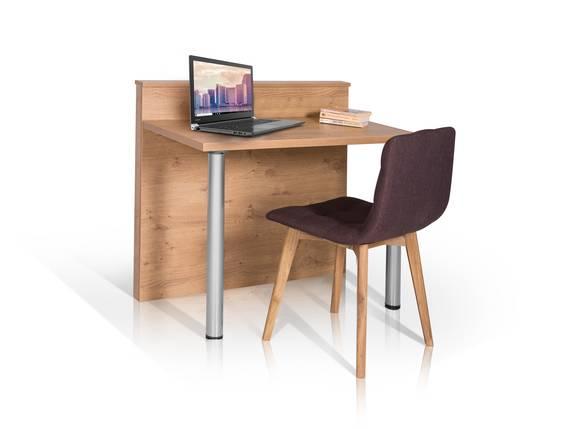 HOTEL Schreibtisch, Material Dekorspanplatte, wildeichefarbig  DETAIL_IMAGE