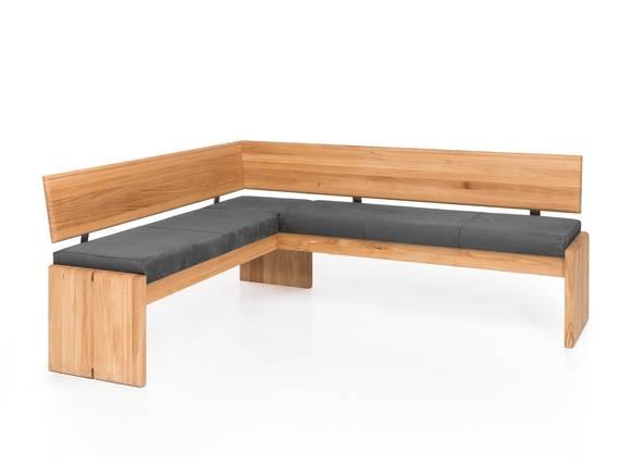 SCOTT Eckbank mit Truhe, Material Massivholz/Bezug Kunstleder Eiche | 147 x 167 cm | grau DETAIL_IMAGE
