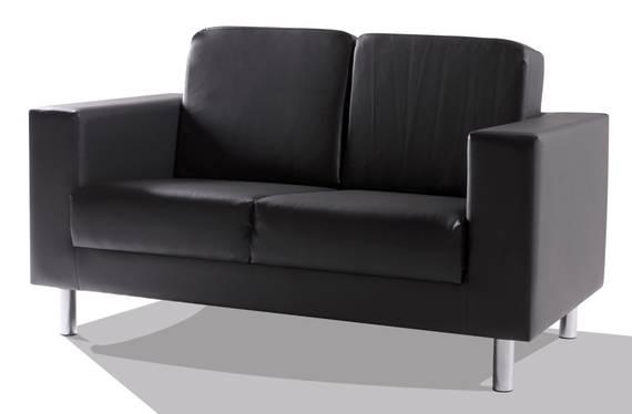 SUSI 2-Sitzer Sofa, Material Kunstleder schwarz DETAIL_IMAGE