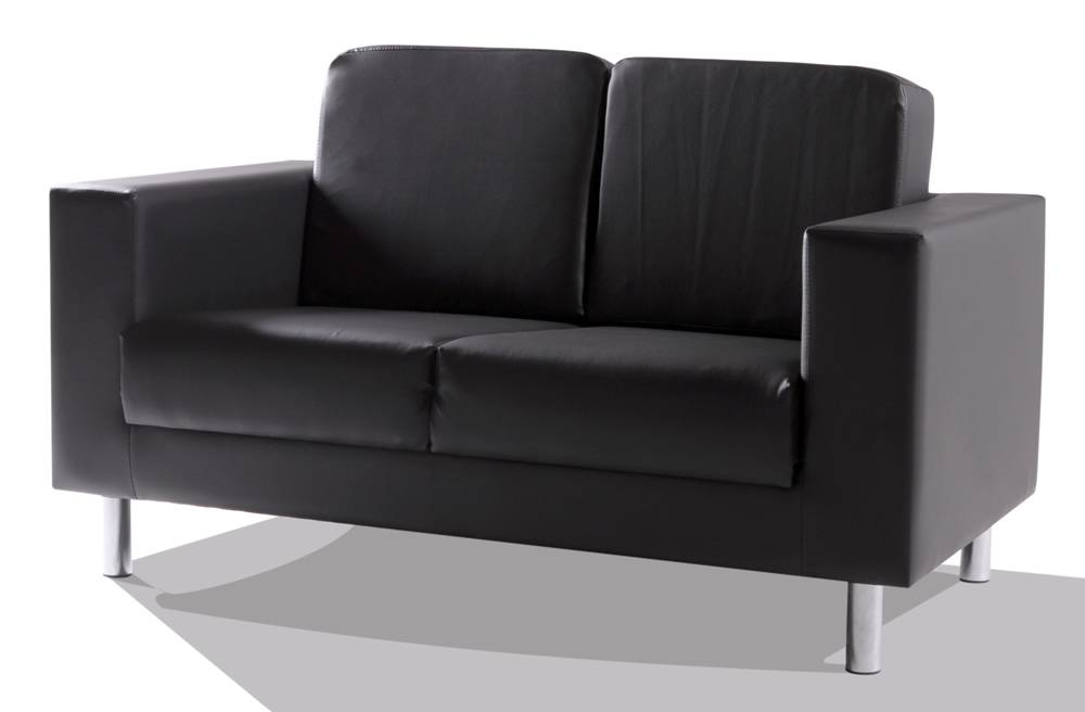 susi 2 sitzer sofa kunstleder schwarz. Black Bedroom Furniture Sets. Home Design Ideas