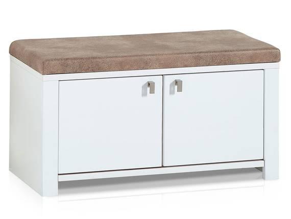 SEVINO Garderobenbank inklusive Sitzkissen, Material MDF, weiss/wildbuchefarbig  DETAIL_IMAGE