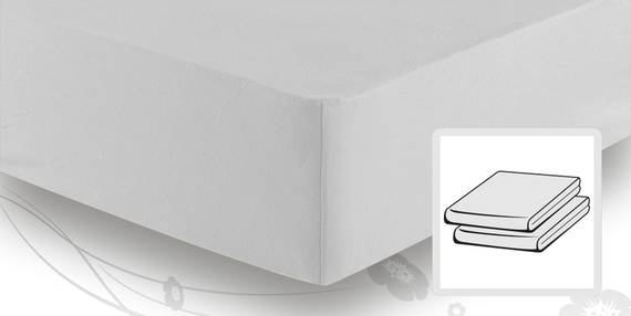 Schlafgut BASIC MAKO-Jersey Spannbettlaken 90x200 bis 100x200 cm silber DETAIL_IMAGE