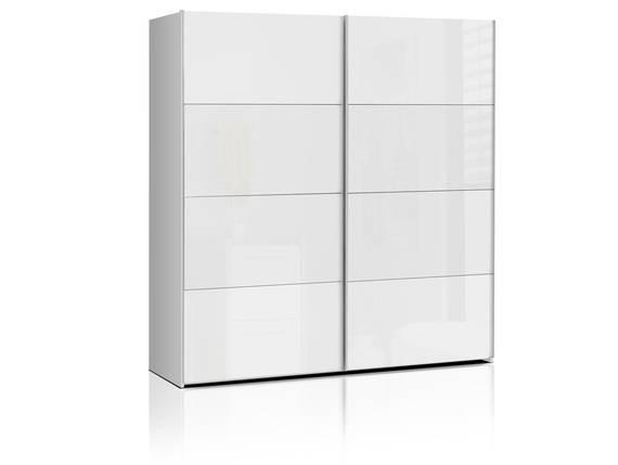 SILENT Schwebetürenschrank, Material Dekorspanplatte, weiss Hochglanz 200 cm DETAIL_IMAGE