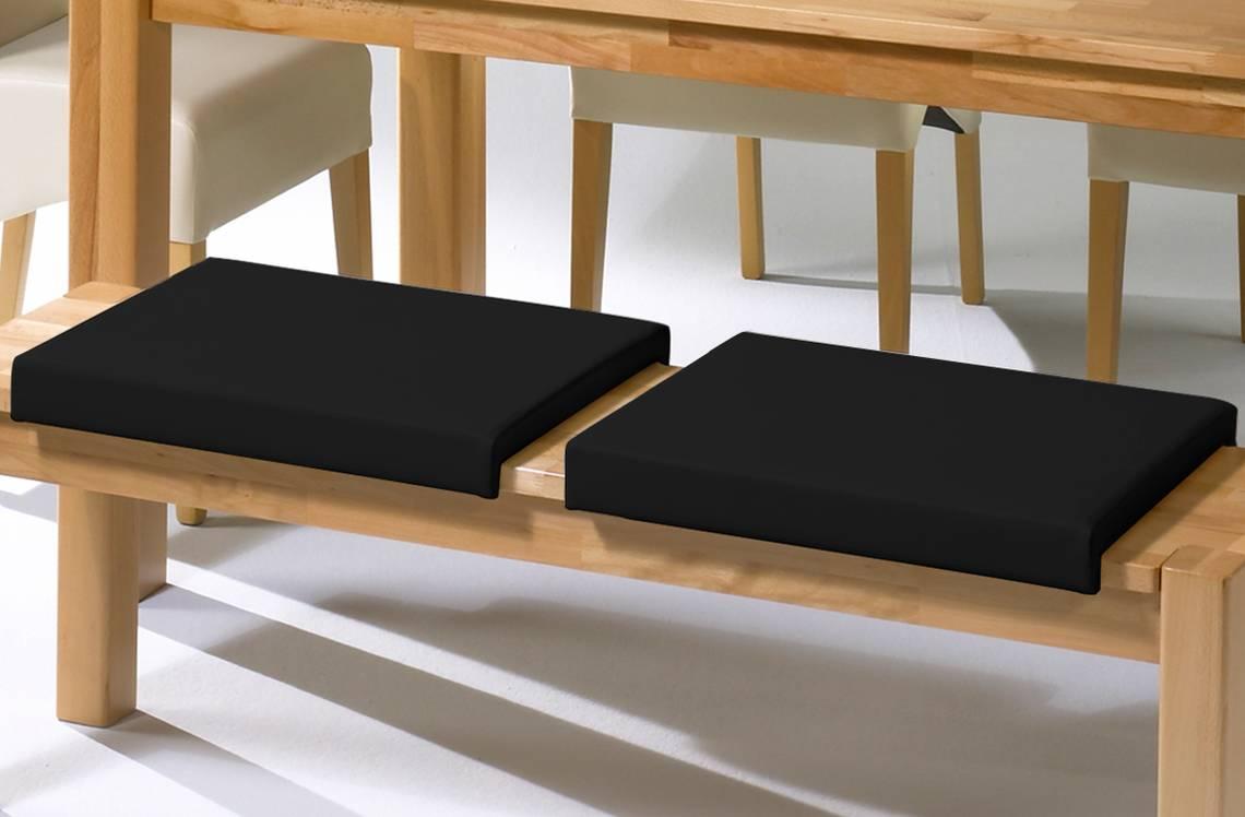 sitzkissen klemmkissen f r sitzbank kunstleder schwarz. Black Bedroom Furniture Sets. Home Design Ideas