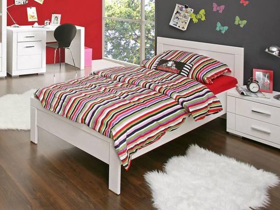 snowy jugendbett weiss inklusive kopfteil 90x 200 cm. Black Bedroom Furniture Sets. Home Design Ideas