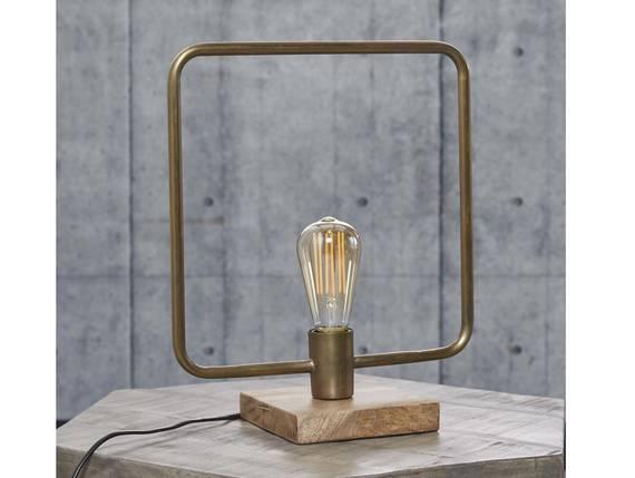 SPOIL Tischlampe Metall eckig mit Antikbronze-Finish  DETAIL_IMAGE
