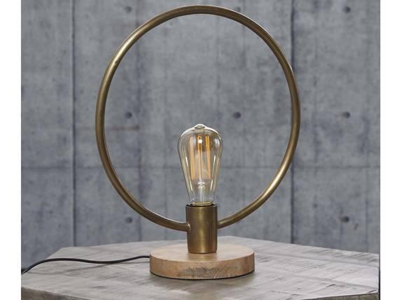 SPOIL Tischlampe Metall rund mit Antikbronze-Finish  DETAIL_IMAGE