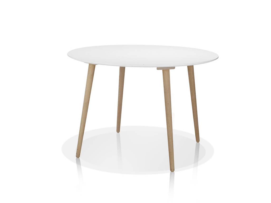 STEVEN Esstisch rund Durchmesser 110 cm weiss DETAIL_IMAGE 1