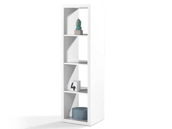SALONA Raumteiler 4, Material Dekorspanplatte, 4 Fächer weiss DETAIL_IMAGE